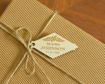 Wedding Tags Wedding Wooden Gift Tags Natural Wood Tags Rustic Custom Engraved Hang Tags Wedding Favor Tags