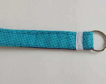 Teal & Purple Polka Dots Wristlet Keychain (Pata's Hope Collection)
