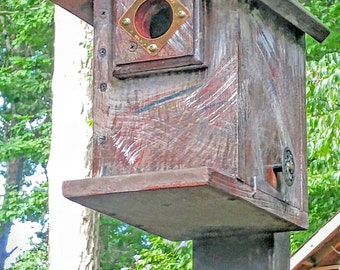 Christopher D's - Rustic Bluebird House with Portal cover and Vintage Style Knob - Home and living, outdoor and gardening, Birdhouse