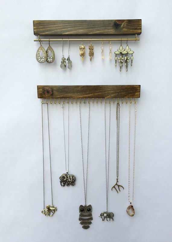 wall mount jewelry organizer necklace holder and earring. Black Bedroom Furniture Sets. Home Design Ideas