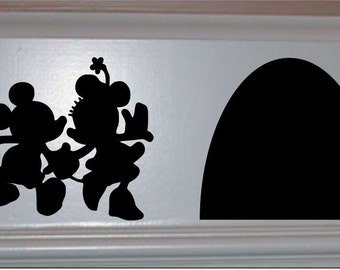 Disney Home Decor,Mickey and Minnie and Their House,Disney Wall Decal,Disney Wall Sticker,Disney Vinyl Decal,Kids Wall Decal,Baseboard Decal
