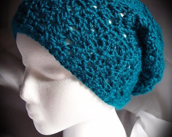 Simple Crochet Slouchy Hat