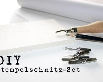DIY stamp carving, Linolschnitzwerkzeug