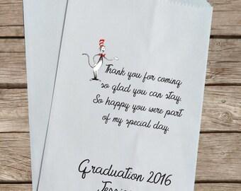 Graduation Favor Bag, Dr. Seuss Candy Bag, Graduation Gift Bag, Graduation Party Favor