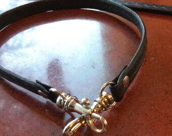 Leather key leash/lanyard for shoulder bags
