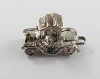 Old Style Roadster Sterling Silver Charm or Pendant.
