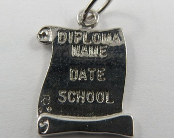 Diploma Vintage Sterling Silver Charm.