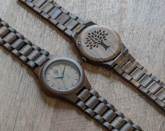 Wood Watch, black watch, Wooden watch,mens watch, handmade, birthday gift, Fathers day, groomsmen gift, groom, mens gift, anniversary, BSMW