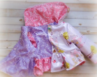 Princess Rain coat, Raincoat, Princess coat