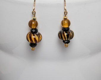 Wild tiger earrings-A272