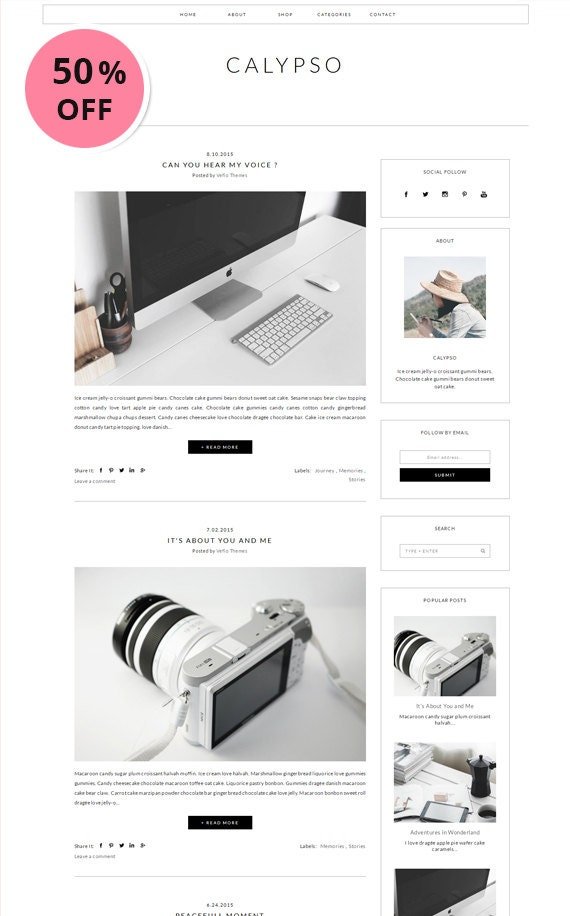 premade blogger template responsive minimalist simple. Black Bedroom Furniture Sets. Home Design Ideas