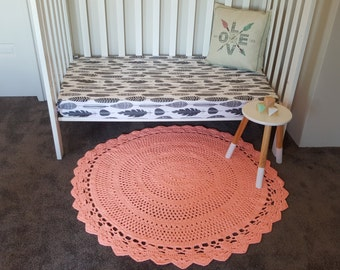 Coral Crochet Rug