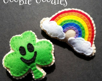 St Patricks Felt Cookies for Pretend Play