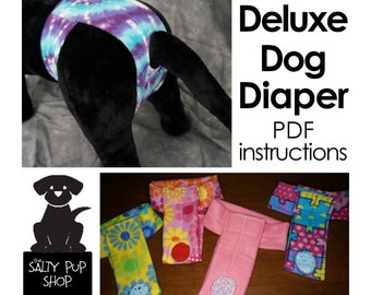DIY Deluxe Dog Diaper PDF Instructions - Large