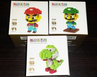 Super Mario Bros Nanoblocks Microblocks Building Construction Sets Mario Luigi Yoshi Nintendo