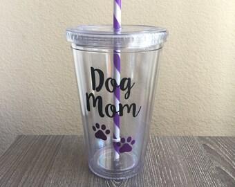 Dog Mom Tumbler, BPA-Free, Dog Mom Mug, Mason Jar, Fur Baby, Dog lover