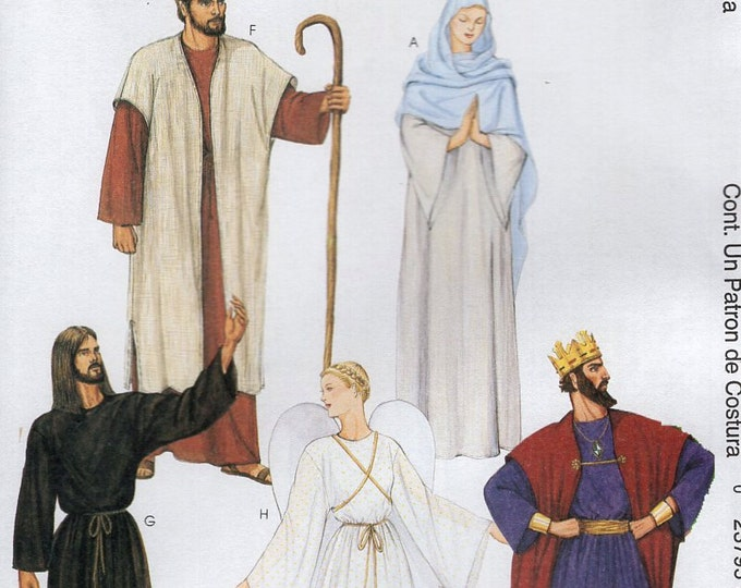 Free Us Ship Sewing Pattern McCall's 2340 Adult Costume Christmas Nativity Pageant Play Mary Joseph Angel Sheperd King Herod New SZ XS M Xl