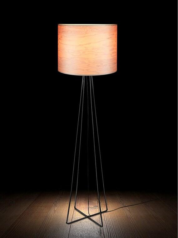 Wohnzimmer Holz Gestell moderne Stehlampe Design