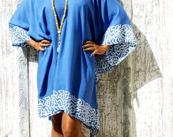 SALE!! Poncho Tunic Tassels/Embroidery beach tunic/Poncho Loose fit/Short dress tassels/Summer poncho/Beach Wear * ZEBRA PONCHO