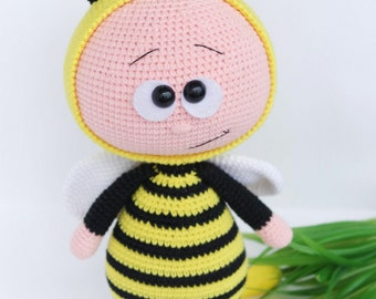 Doll With Bee Costume Stuffed Toy