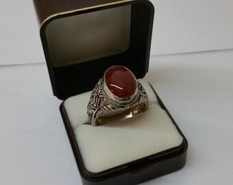 Nostalgic silver ring 925 with carnelian SR670