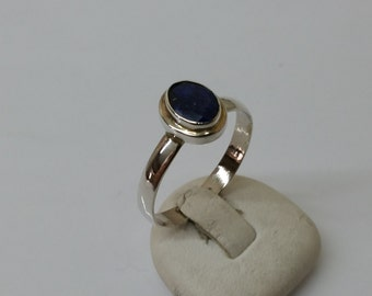 Silver ring with lapis lazuli faceted Berber jewellery SR187