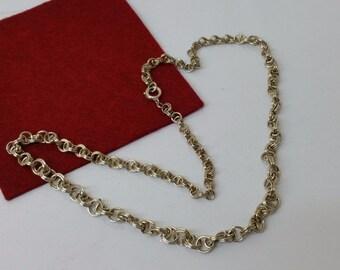 Antique necklace silver 835 chain articulated necklace length 46 cm vintage HK115