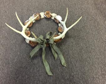Faux Deer Antler Wreath