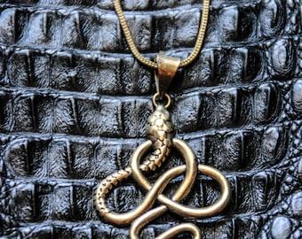 Snake Charmer Chain - Bronze Metal - Goa Style - Hippie Gypsy Boho Ethnic -