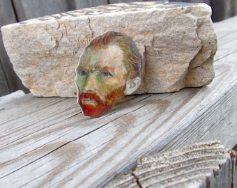 Vincent Van Gogh- Artists pin, gift idea, cool jewelry,Post impressionistic painter,Art pin, Artists gift