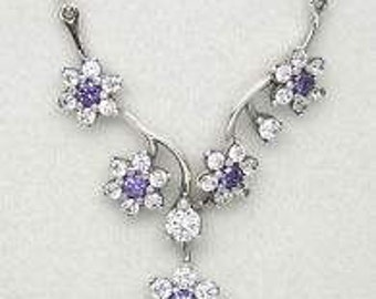 Authentic Pandora Spring 2016 Collection  Forget Me Not Necklace#590519ACZ-45