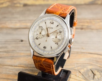 Vintage Tissot Chronograph mens watch stainless steel swiss watch