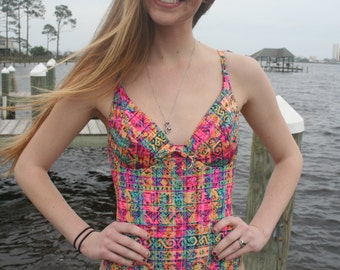Vintage Sessa Swimsuit Multi-colored 80's