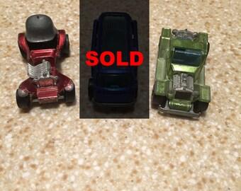 1969-1970 Vintage Hot Wheel Cars - Mattel -  Colored Chrome - Muscle Car - Red Chrome - Blue Chrome - Green Chrome - Shiny - Used