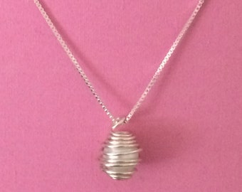 Wrapped Pearl Necklace (White)
