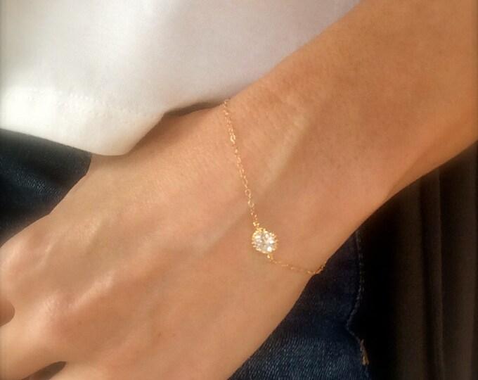 Diamond Bracelet Gold Bracelet Crystal Bracelet CZ Rose Gold Filled Ankle Bracelet Bridal Silver Gold Gifts for Her Bridesmaids Jewelry