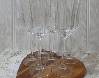 Vintage French Champagne Flutes