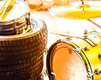Bass drum in gold