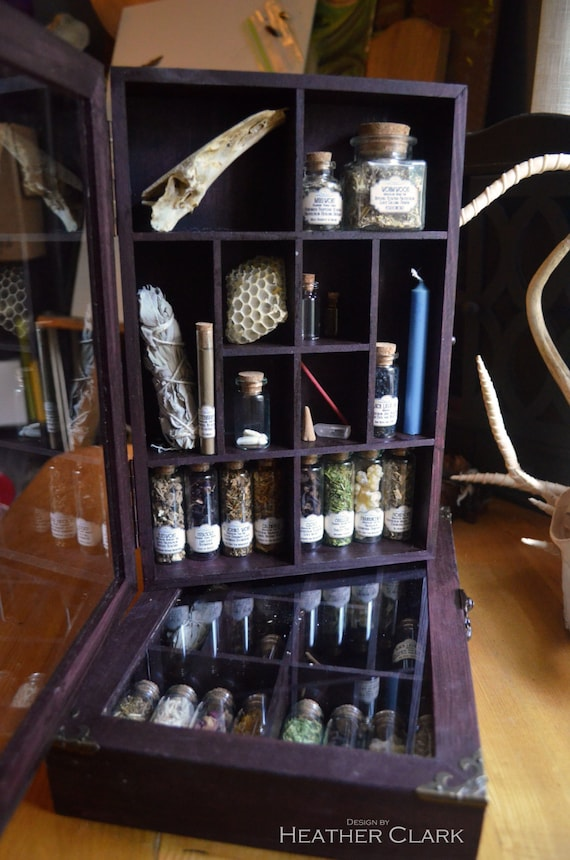 Fully Stocked Apothecary Kit with Antique Labeling System