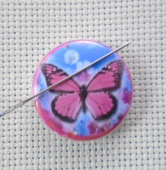Pastel Butterfly Cross Stitch Needle Minder