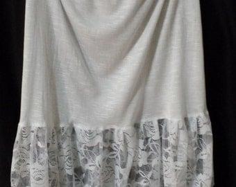 White SHIRT EXTENDER, White SLIP Extender, Jupe Extender, White Dress or Skirt Extender