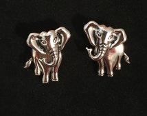 Vintage Silver Elephant Earrings- Free Shipping in U.S.!!