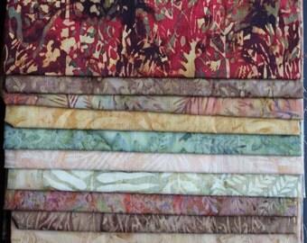 Colors of Fall Batiks - 12 Fat Quarters