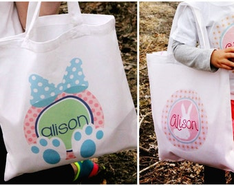Personalized Easter Tote - Easter Bag - Easter Hunt