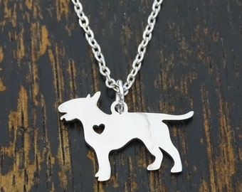 Bull Terrier Necklace, Bull Terrier Charm, Bull Terrier Pendant, Bull Terrier Jewelry, Bull Terrier Lover, Dog Breed Necklace, Dog Jewelry