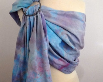 Broken twill ring sling -100% organic cotton- handyed- baby wrap - grey, blue, pink, purple, turquoise, lilac