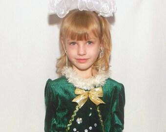 Christmas Tree Dress, Girls Christmas Dress , Girls Holiday tutu dress, Snowflakes