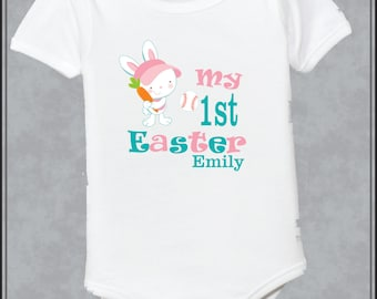 Personalized Girls Easter Bunny Shirt First Easter Bunny Shirt 1st Easter Shirt