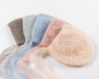 Mohair Newborn Hat, Photo Props, Photography Props, Knit Baby Hat, Newborn Bonnet, Newborn Props, Girl Hat, Boy Hat, Newborn Knitted Hat