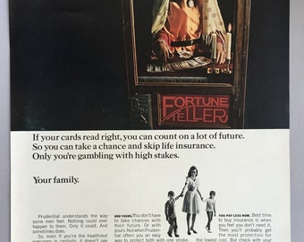 1967 Prudential Life Insurance Print Ad - Fortune Teller